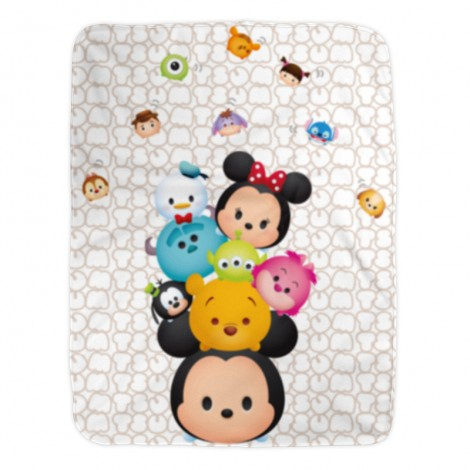 Cutie Bunch, Disney Tsum Tsum 100% Polyester fleece blanket