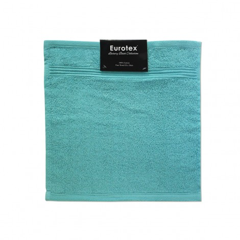 Cotton Face Towel 33 x 33cm - Turquoise