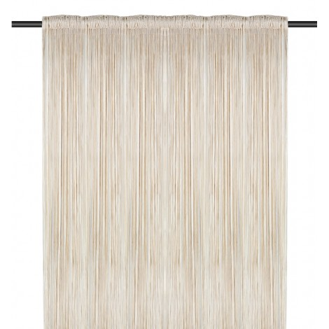 String Curtain, Cream & White