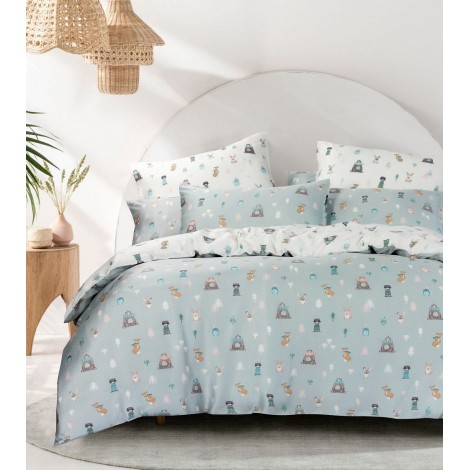 Animal Kingdom Grey, Eurotex Mod Living, 1000TC, 100% Tencel Fitted Bedsheet (also available in Bedset)